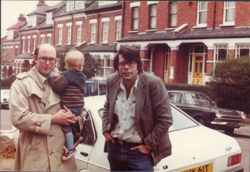 Peter Straub, Benjamin Straub et Stephen King, Londres, 1977