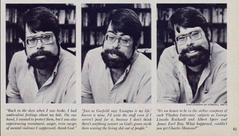 Photo de Stephen King lors de son interview pour PlayBoy - 1983