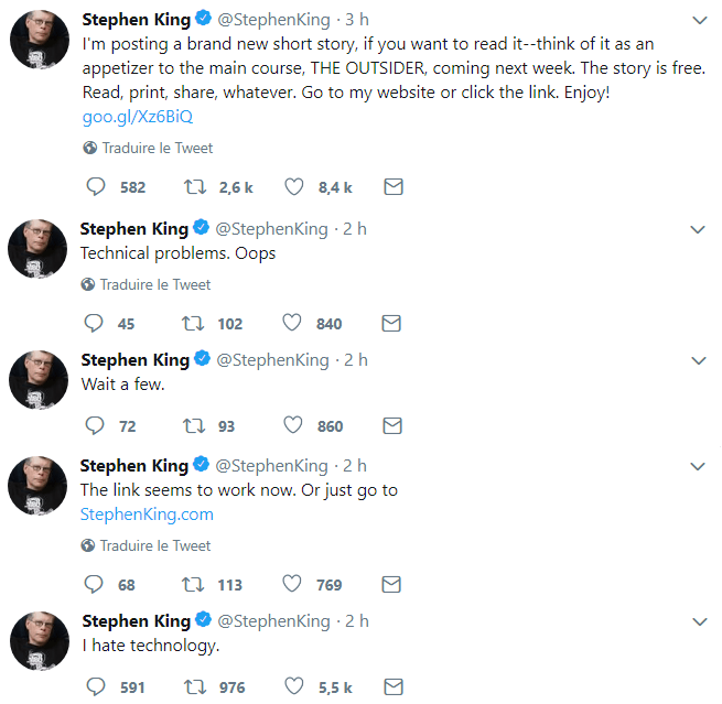stephen king laurie twitter