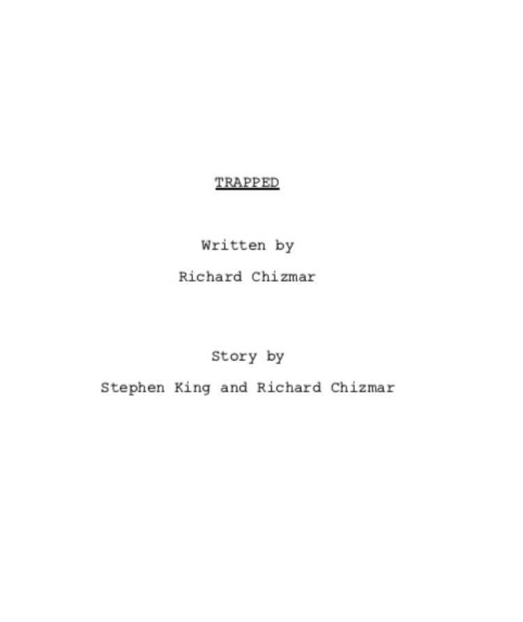trapped script pris au piege chizmar king