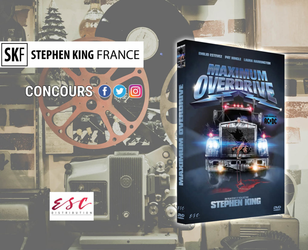 concours maximum overdrive stephen king dvd blu ray