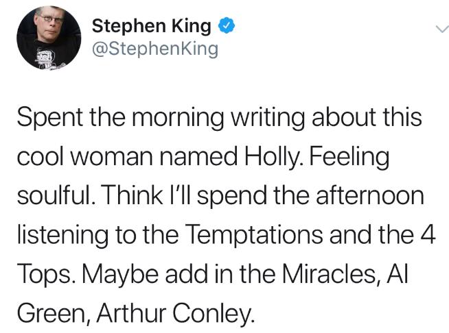 stephen king twitter holly gibney