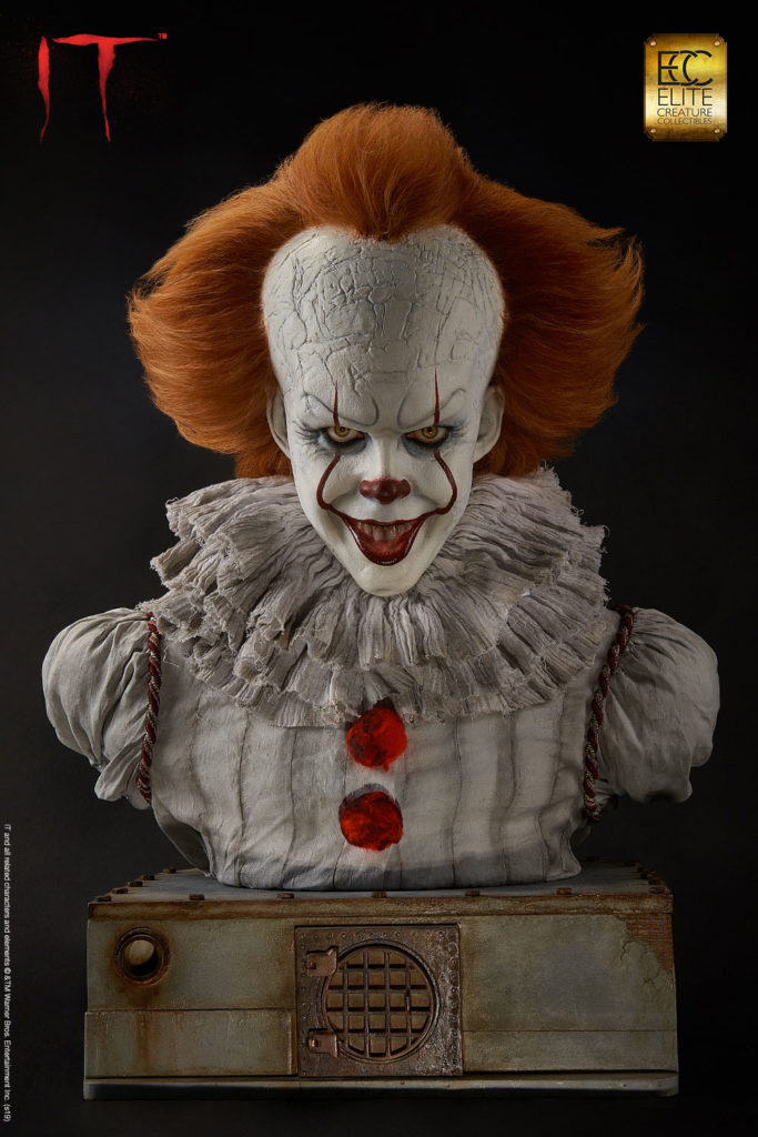 buste grippe sou pennywise 2017 elite creature collectibles
