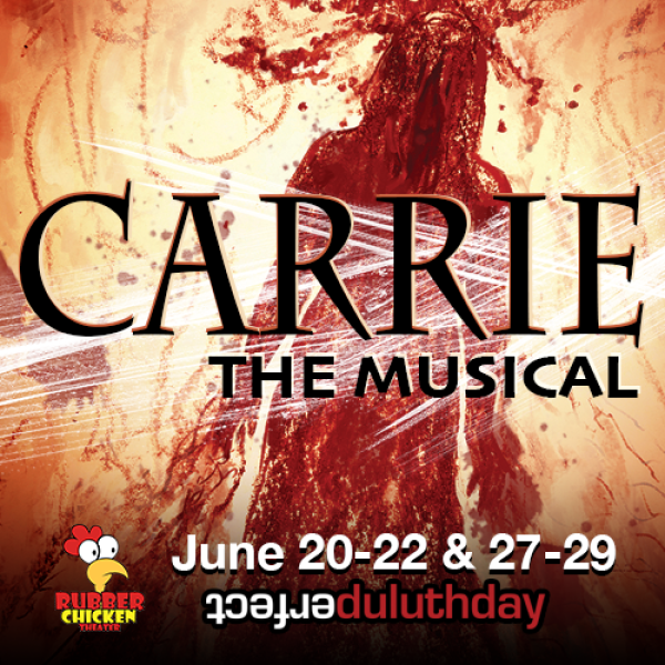 carrie the musical rubber chicken theatre