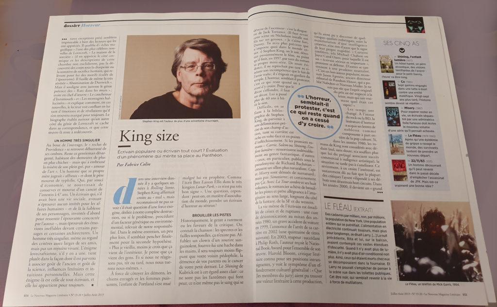 magazine littéraire stephen king