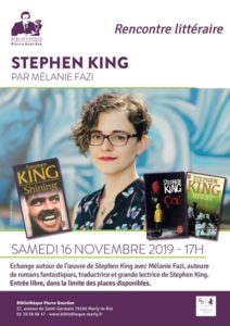 [FR] Rencontre littéraire Stephen King @ Bibliothèque Pierre Bourdan