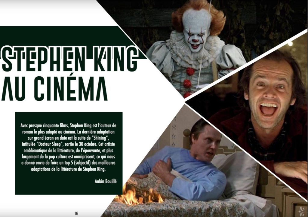 stephen king magazine ciné 2