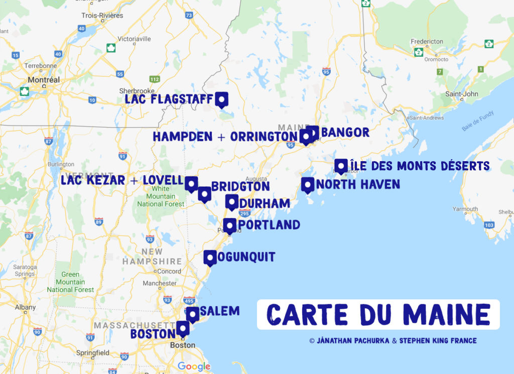 carte du maine de stephen king